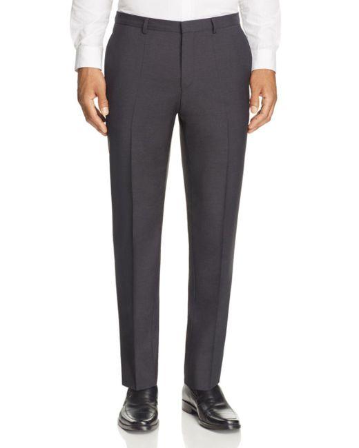 HUGO - Black Hets Slim Fit Trousers for Men - Lyst