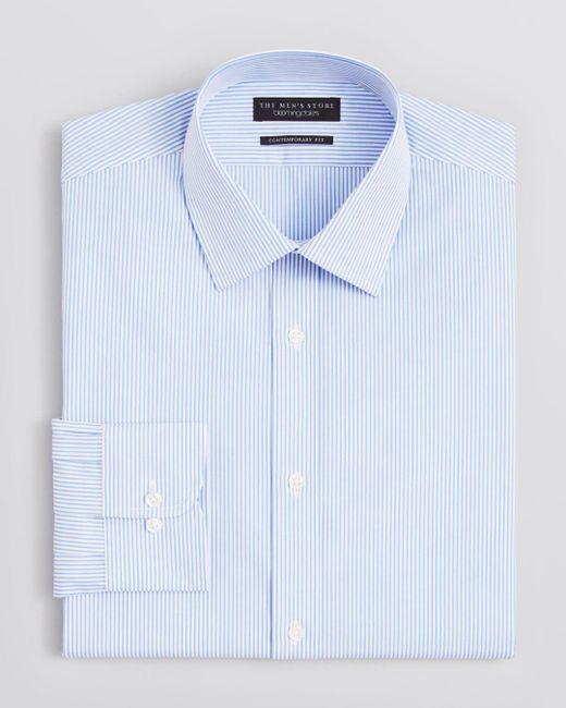 Bloomingdale's - Blue Striped Dress Shirt - Regular Fit for Men - Lyst