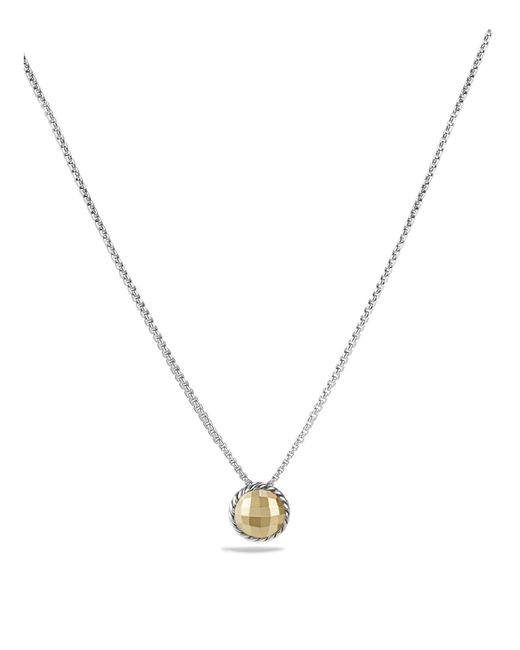 David Yurman | Metallic Châtelaine Necklace With Gold Dome And 18k Gold | Lyst