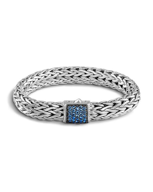 John Hardy - Metallic Classic Chain Sterling Silver Lava Large Bracelet With Blue Sapphire - Lyst