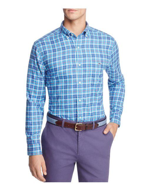 Vineyard Vines - Blue Plaskett Creek Plaid Button-down Shirt for Men - Lyst