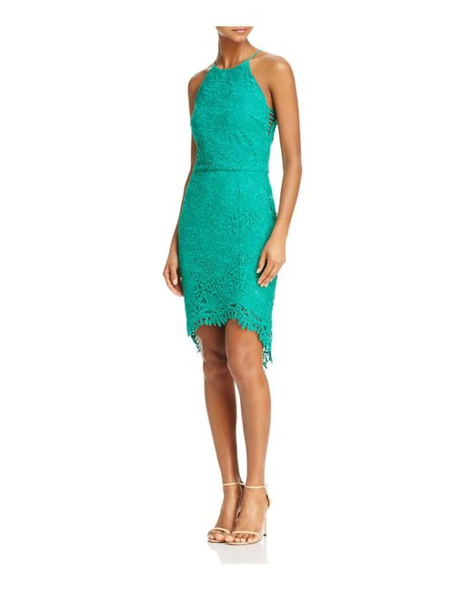 Adelyn Rae - Green Louise Lace Fishtail Dress - Lyst