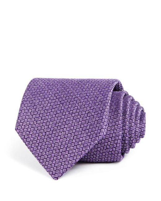 Bloomingdale's - Purple Textured Silk Classic Tie for Men - Lyst