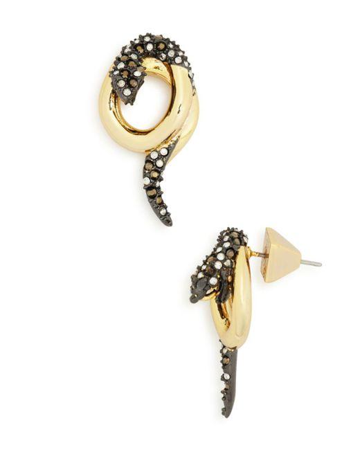 Alexis Bittar - Metallic Coiled Snake Post Earrings - Lyst