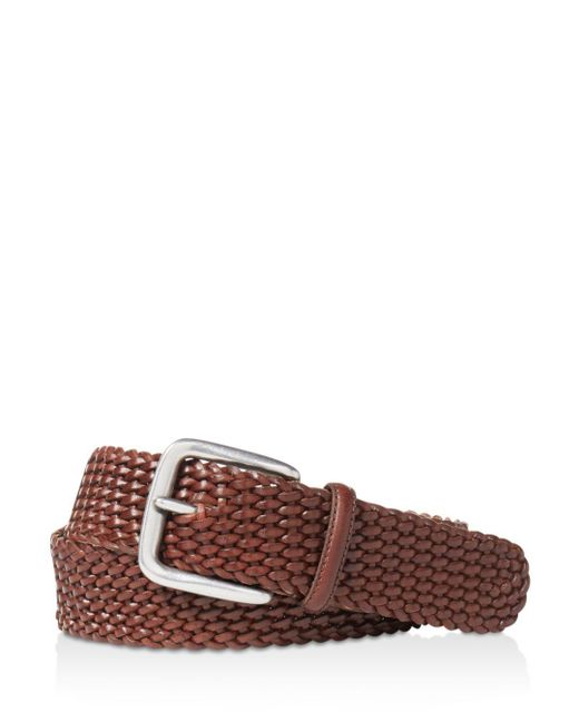 "Polo Ralph Lauren - Brown ""savannah"" Braided Belt for Men - Lyst"