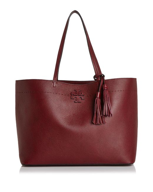 Tory Burch | Black Mcgraw Medium Leather Tote | Lyst
