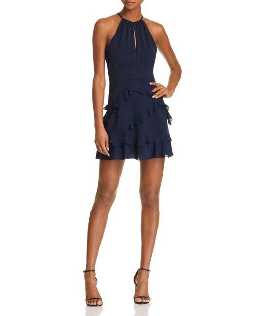 Parker - Blue Phoenix Tiered Ruffled Dress - Lyst