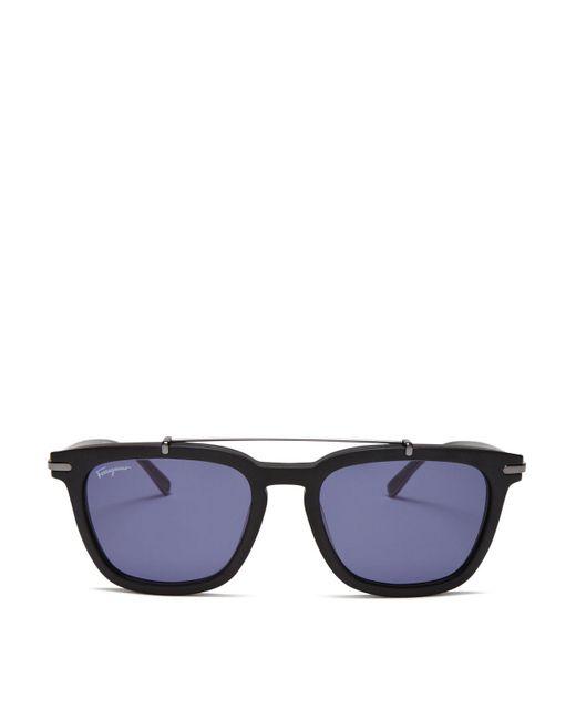 Ferragamo | Black Matte Sunglasses for Men | Lyst