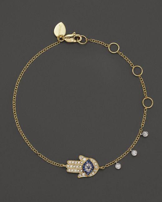 Meira T | Metallic 14k Yellow Gold Hamsa Bracelet | Lyst