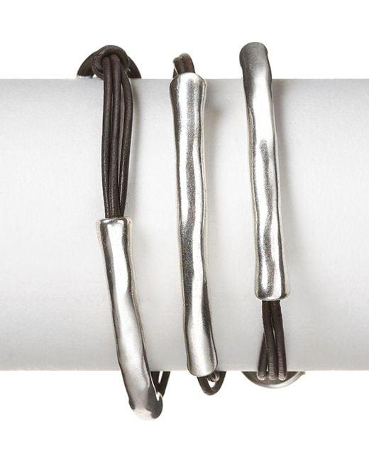 Uno De 50   Metallic Not To Be Wrap Bracelet   Lyst