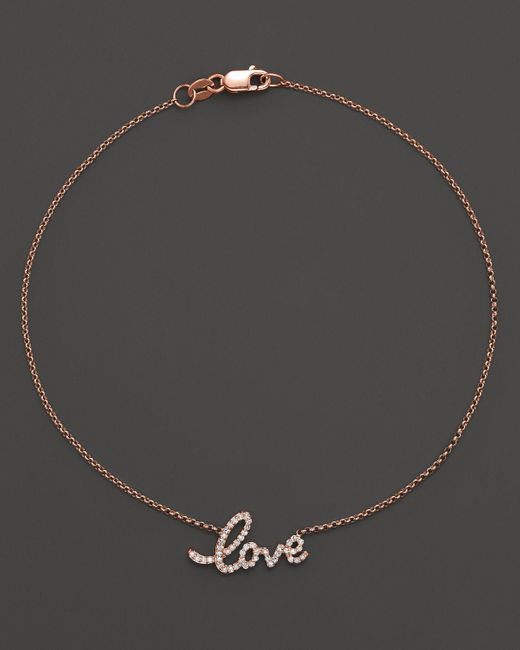 KC Designs | Pink Diamond Love Ankle Bracelet In 14k Rose Gold, .16 Ct. T.w. - 100% Exclusive | Lyst