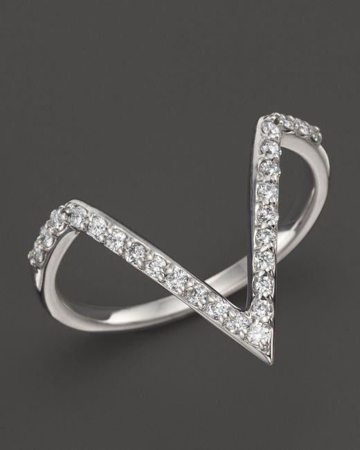 KC Designs | Diamond Angle Ring In 14k White Gold, .25 Ct. T.w. - 100% Exclusive | Lyst