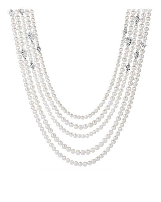 David Yurman | White Starburst Pearl Muli-row Necklace With Diamonds | Lyst