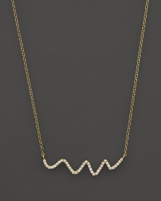 Meira T | 18k Yellow Gold Diamond Squiggle Necklace, 16"