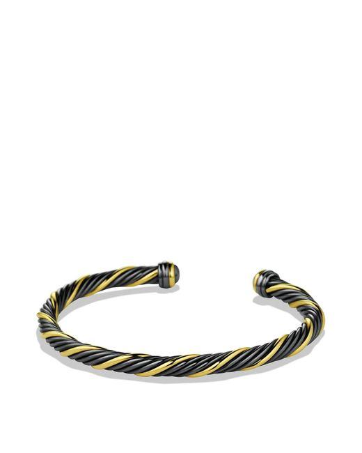 David Yurman   Black & Gold Cable Bracelet   Lyst