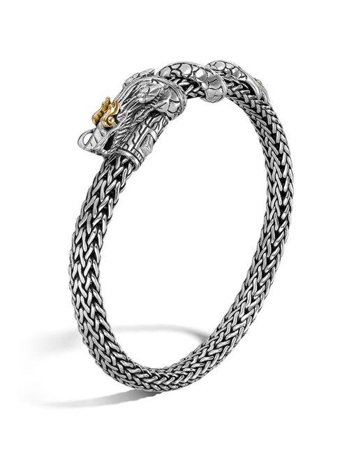 John Hardy   Metallic Sterling Silver & 18k Gold Naga Dragon Bracelet   Lyst