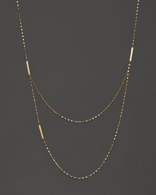 "Lana Jewelry | 14k Yellow Gold Tri Bar Necklace, 22"" | Lyst"