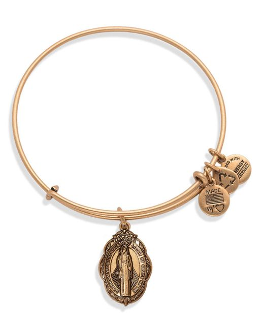 ALEX AND ANI | Metallic Mother Mary Expandable Wire Bangle | Lyst