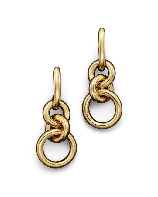 Roberto Coin | Metallic 18k Yellow Gold Three Circle Drop Earrings | Lyst