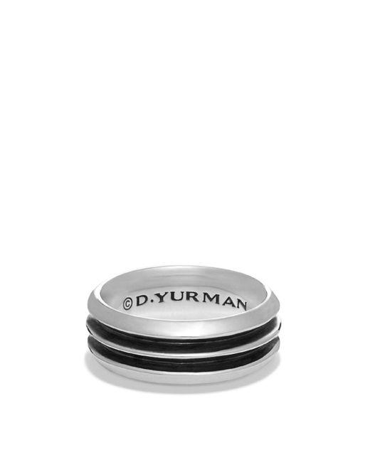 David Yurman | Metallic Royal Cord Knife-edge Band Ring | Lyst