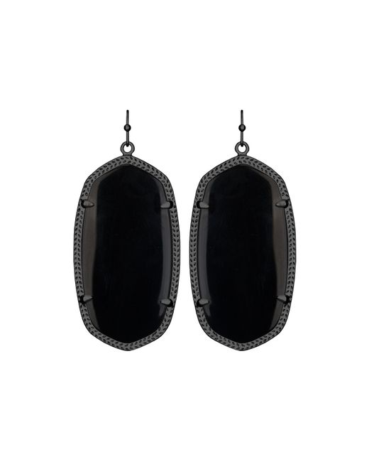 Kendra Scott | Danielle Earrings, Black Onyx | Lyst