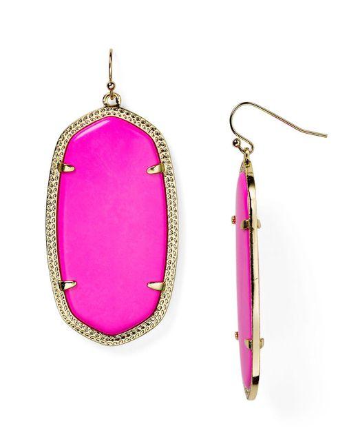 Kendra Scott | Purple Elle Earrings | Lyst