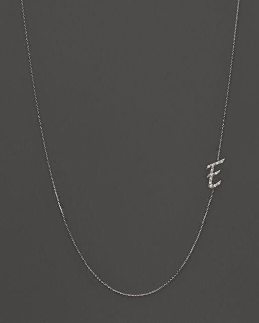 KC Designs | Diamond Side Initial E Necklace In 14k White Gold, .07 Ct. T.w. - 100% Exclusive | Lyst