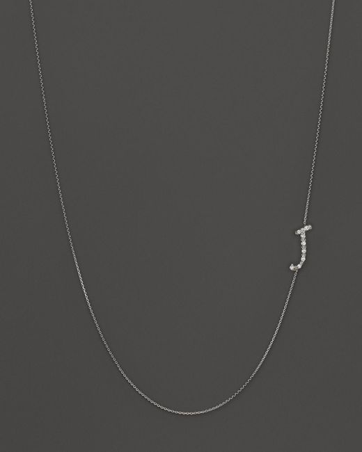 KC Designs | Metallic Diamond Side Initial J Necklace In 14k White Gold, .05 Ct. T.w. - 100% Exclusive | Lyst