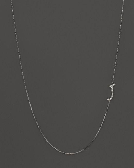 KC Designs | Metallic Diamond Side Initial J Necklace In 14k White Gold, .05 Ct. T.w. | Lyst