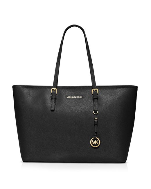 MICHAEL Michael Kors | Black Tote - Jet Set Medium Multi Function | Lyst