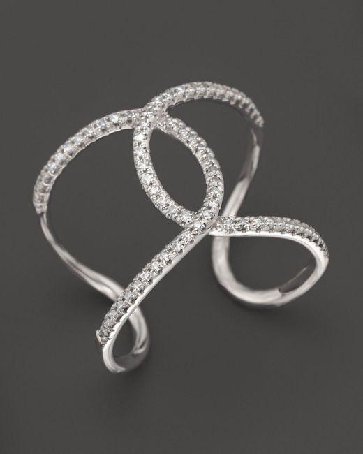 KC Designs | Diamond Interlocking Ring In 14k White Gold - 100% Exclusive | Lyst