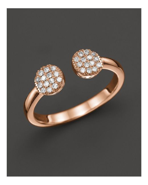 Dana Rebecca | Pink Diamond Lauren Joy Double Ring In 14k Rose Gold | Lyst