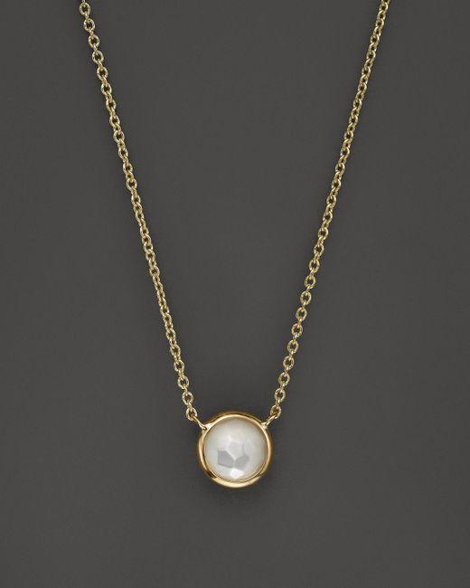 "Ippolita | Metallic 18k Gold Mini-lollipop Necklace In Mother-of-pearl, 16"" | Lyst"