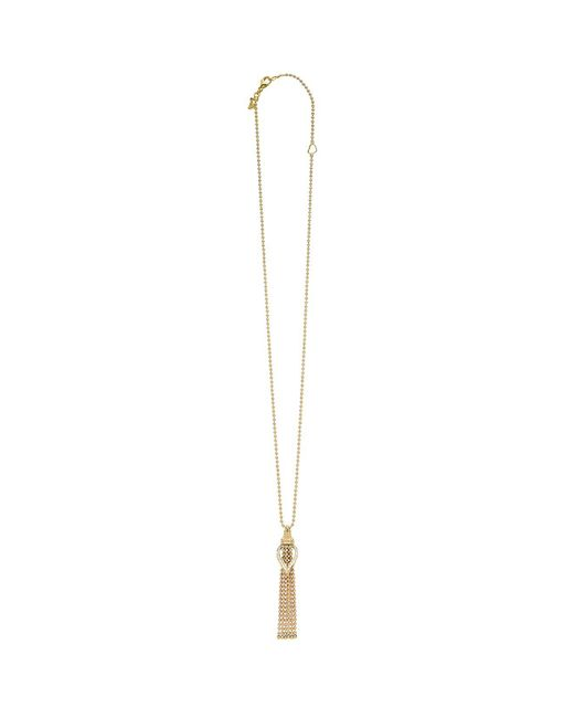 Lagos | Metallic 18k Gold Flame Diamond Chain Dangle Pendant Necklace, 16"
