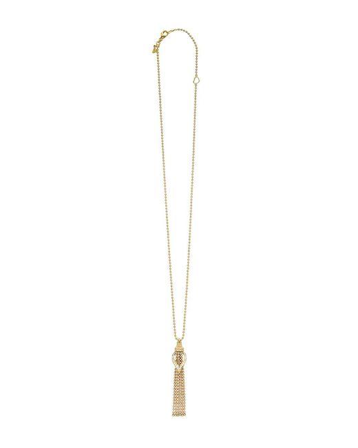 "Lagos | Metallic 18k Gold Flame Diamond Chain Dangle Pendant Necklace, 16"" | Lyst"