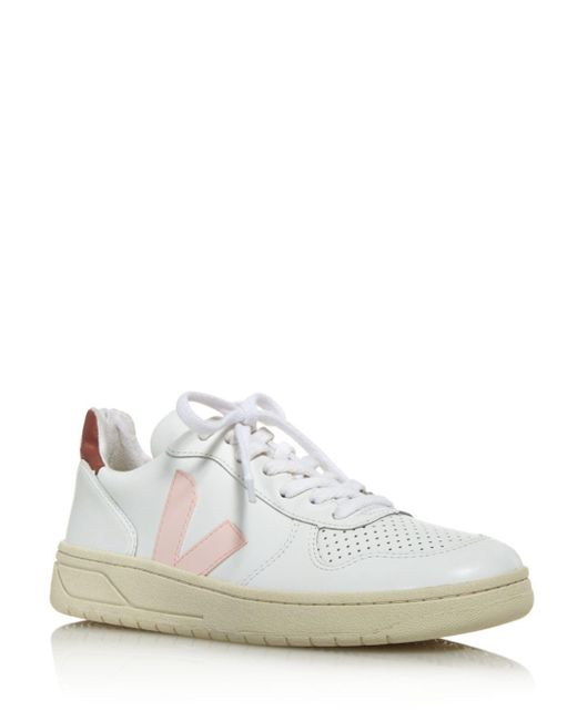 eb8978252324ad Veja Women s V-10 Leather Low-top Sneakers in White - Save 2% - Lyst