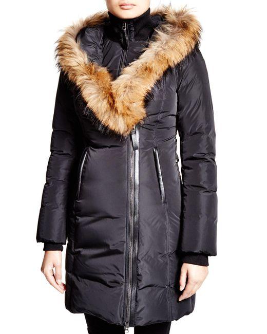 Mackage   Black Kay Lavish Fur Trim Down Coat   Lyst