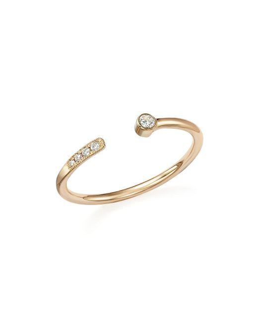 Zoe Chicco | Metallic 14k Yellow Gold Turquoise Circle Ring | Lyst