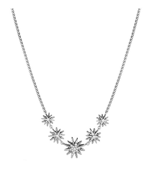 David Yurman | Metallic Starburst Five-station Necklace With Diamonds | Lyst