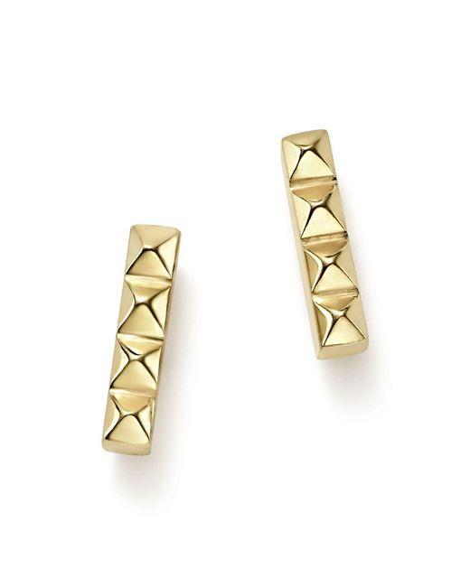 Zoe Chicco | Metallic 14k Yellow Gold Spiked Bar Stud Earrings | Lyst
