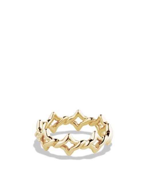 David Yurman | Metallic Venetian Quatrefoil Stacking Ring In Gold | Lyst