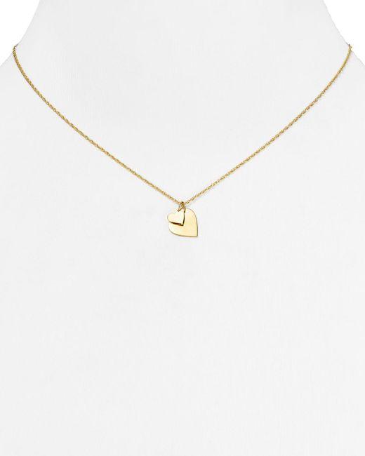 "Jennifer Zeuner   Metallic Mattea Mini Double Heart Necklace, 16""   Lyst"