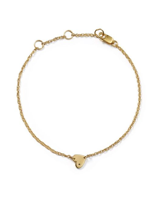 Jennifer Zeuner | Metallic Mia Mini Heart Bracelet | Lyst
