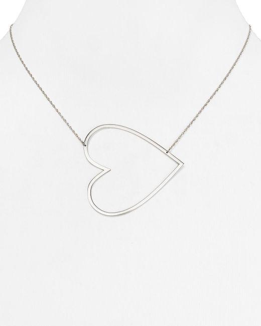 "Jennifer Zeuner | Metallic Marissa Large Heart Necklace, 18"" | Lyst"