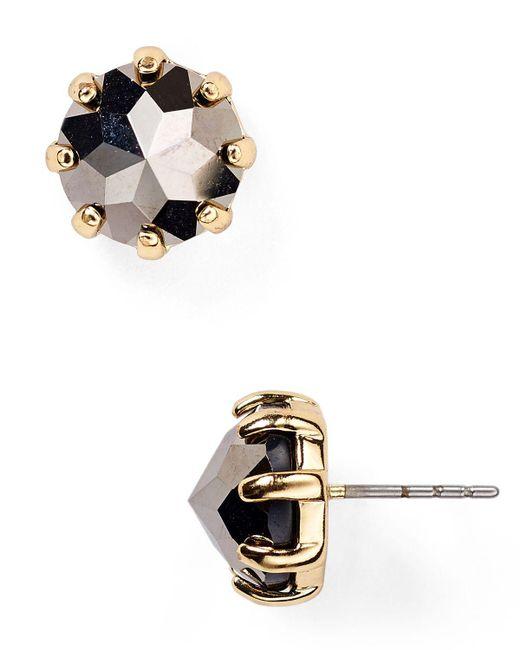 Rebecca Minkoff | Metallic Rhinestone Stud Earrings | Lyst