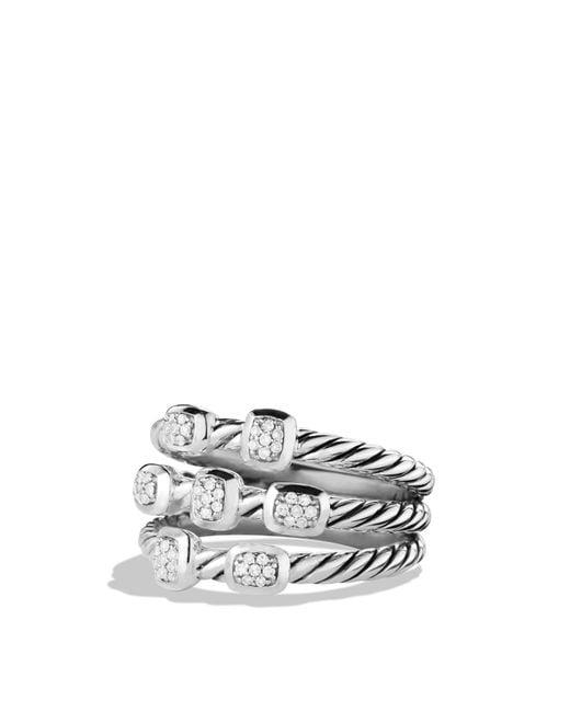 David Yurman | Metallic Confetti Ring With Diamonds | Lyst