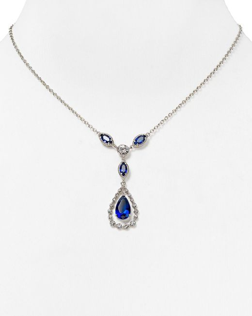 "Carolee | Blue Uptown Girl Teardrop Pendant Necklace, 16"" | Lyst"