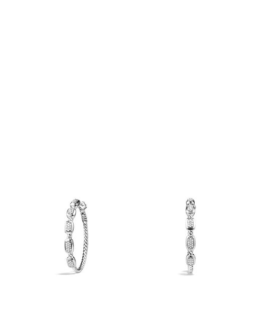 David Yurman | Metallic Confetti Hoop Earrings With Diamonds | Lyst