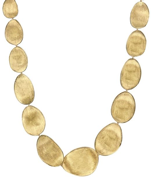 "Marco Bicego | Metallic 18k Yellow Gold Lunaria Collar Necklace, 18.5"" | Lyst"