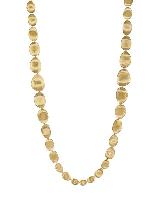"""Marco Bicego   Metallic 18k Yellow Gold Lunaria Double Weave Necklace, 39.25""""   Lyst"""